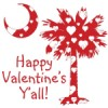 Buy Happy Valentine's Y'all White Heart Palmeto Moon T-Shirts, Apparel, and Gifts